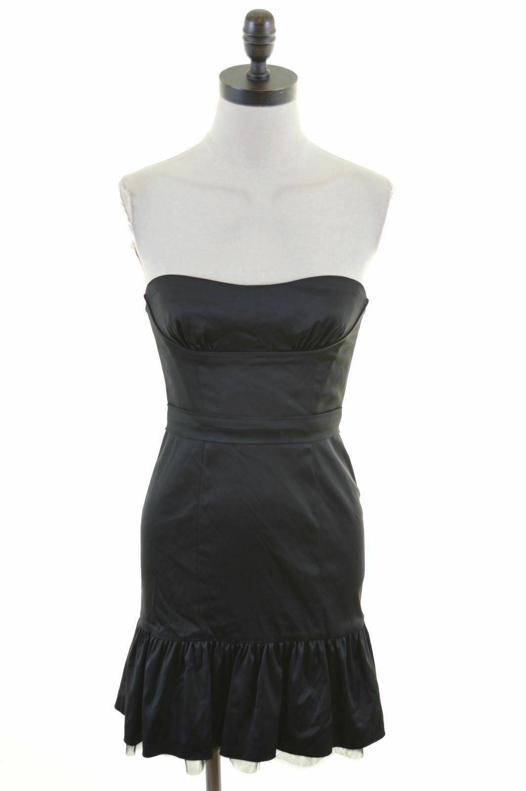 BCBG MAXAZRIA damen damen damen Strapless Dress US 2 XS schwarz Acetate  Q125 5983d1