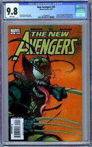 New Avengers #35 CGC 9.8 (Dec 2007, Marvel) Early Venomized Wolverine Cover.