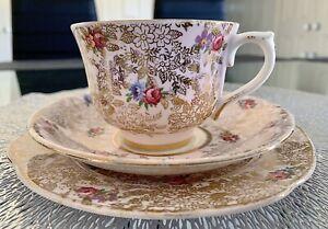 Colclough-Bone-China-Trio-Vintage-English-Tea-Set