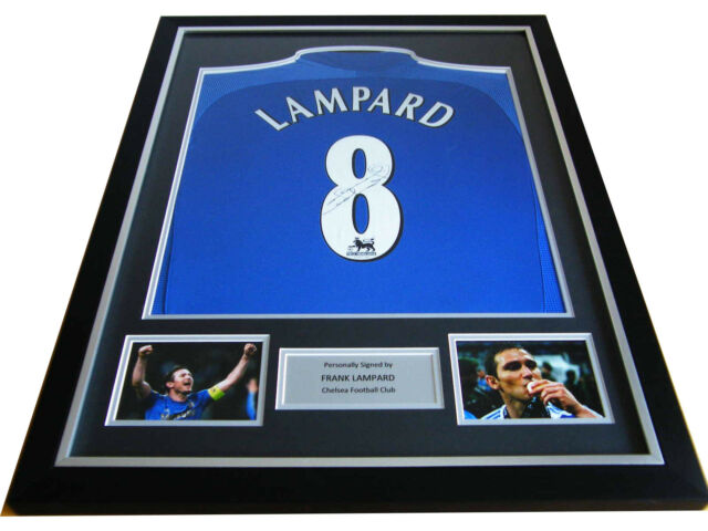FRANK LAMPARD GENUINE HAND SIGNED & FRAMED AUTOGRAPH CHELSEA SHIRT NAME #8 & COA