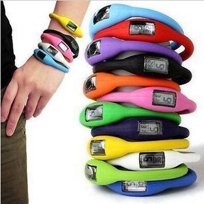 12 Colors Storm Digital Silicone Rubber Jelly Sports Bracelet Wrist Watch JB7US-