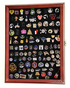 Lapel-Pin-Pins-Patches-Medals-Buttons-Ribbons-Display-Case-Cabinet-Shadow-Box
