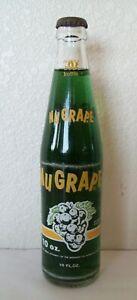 VINTAGE 1950's- 1960's FULL UNOPENED 3 COLOR 10 OZ NUGRAPE ACL SODA BOTTLE