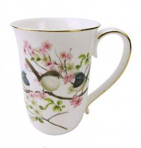 Australian-Bird-Series-034-Blue-Wren-034-Gold-Edged-Fine-China-Mug-Coffe-Cup-Boxed