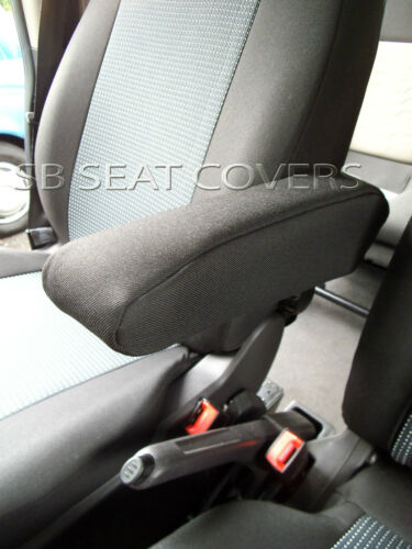 LEATHERETTE TRIM TO FIT A FORD TRANSIT 2016 VAN SEAT COVERS 89A FABRIC