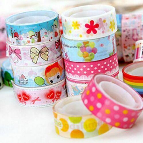 10Pcs//Bulk Meter Paper Sticky Adhesive Sticker Decorative Tapes Hot Washi N R0F4