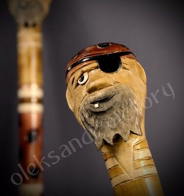 Swan Hand Carvin Canes Walking Sticks Wooden Unique Handmade Cane Hiking Stick