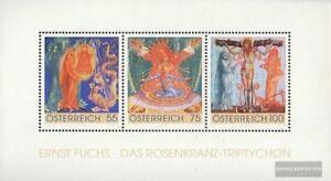 Osterreich-Block54-kompl-Ausg-postfrisch-2009-Rosenkranz-Triptychon