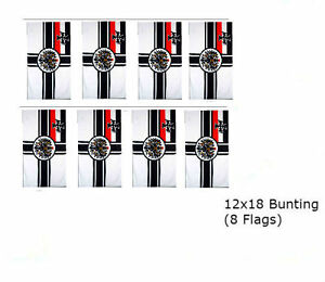 German-Imperial-WWII-12x18-Rough-Knitted-Bunting-String-Flag-Banner-8-Flags