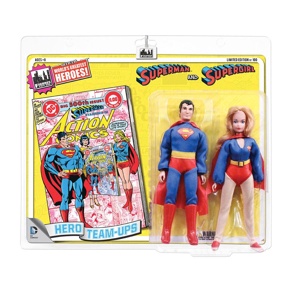 DC Comics retrò stile 8 pollici Retrò cifra 2Pack  SUPERuomo & Supergirl Gituttio
