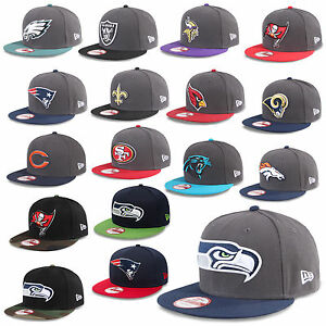 New Era Cap 9FIFTY Snapback NFL Football Raiders Patriots Giants ... c874b323779