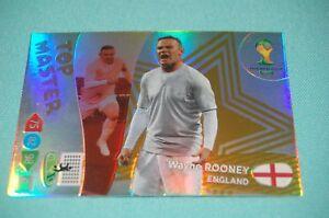 Panini-Adrenalyn-XL-WM-2014-Brasil-Wayne-ROONEY-TOP-MASTER-Trading-Card