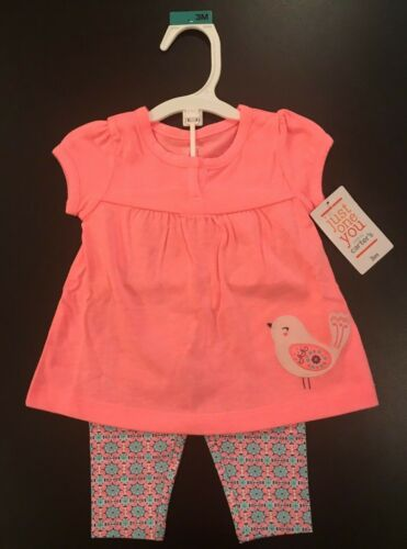 Cute Bird 2 piece Girl/'s 3 month outfit BRAND NEW Just One You by Carter/'s