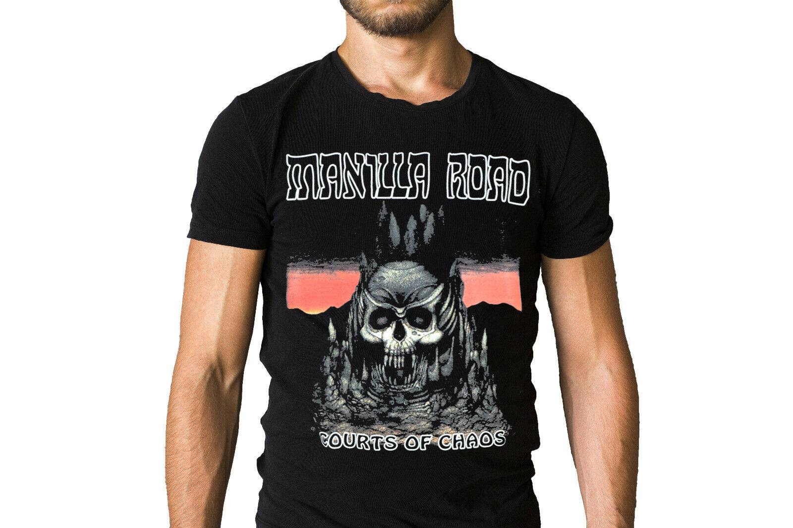 Manilla Road The Courts Of Chaos 1990 Album Cover T-Shirt