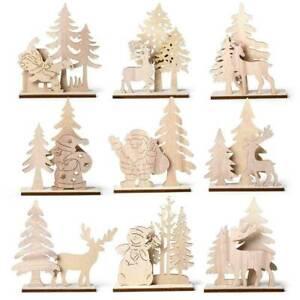 DIY-Christmas-Wooden-Pendant-Elk-Santa-Claus-Xmas-Ornament-Table-Home-Decoration