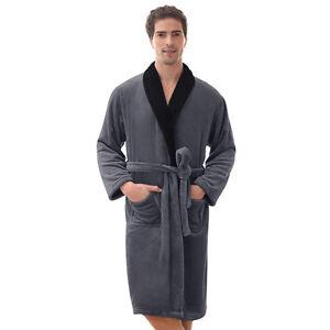 fabbcef1de Mens Robe -Bathrobe Coral Fleece Robe --Thick-VERY SOFT -   SALE ...