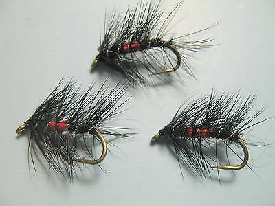 BIBIO Trout Flies 3 Pack WET Beetle HAWTHORN Nymphs Fly Fishing Sizes 10,12,14