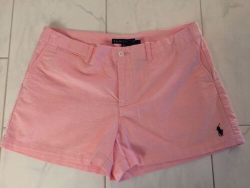 Ralph 8 Pantaloncini Polo rosa cotone Pony Msrp 89 donna Lauren in 50 Nwt aaRq8wx