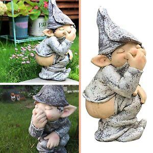 Funny Resin Naughty Garden Gnome Garden Decoration Statue Gnome Decoration 5 In