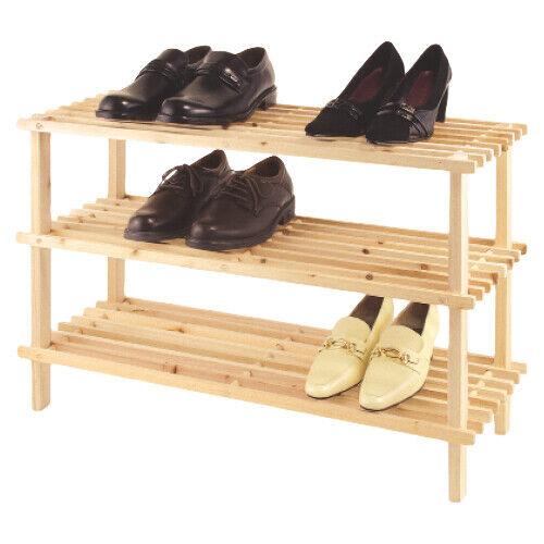 Zeller Schuhbank Kiefer 80x26x51 cm Schuhablage Holz Schuhregal Schuhständer