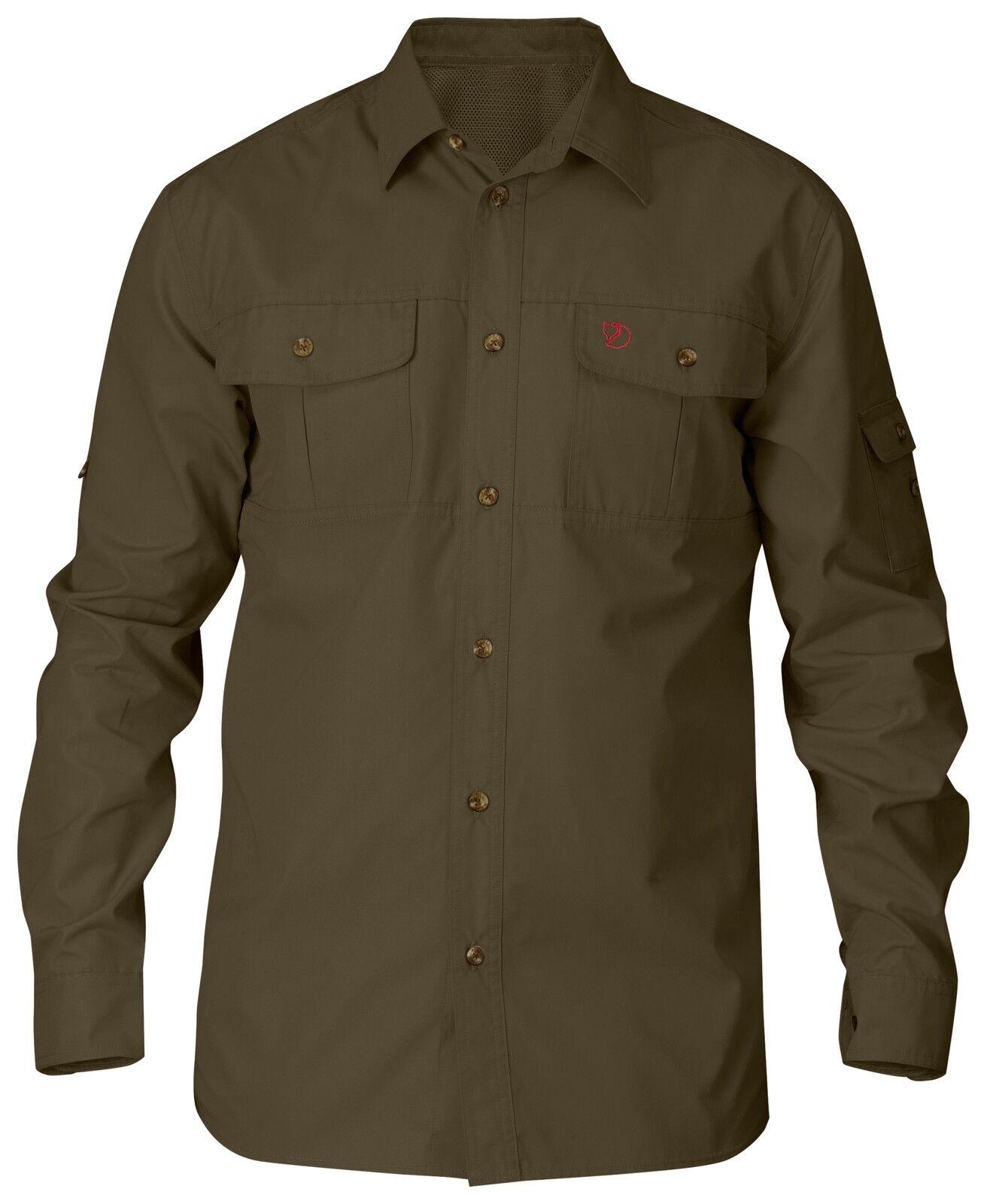Fjällräven Singi Trekking Shirt  81838 dark oliv  G-1000 Jagdhemd Trekkinghemd
