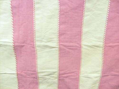 FIBRE NATURELLE CORDED STRIPE 09 COTTON CANDY PINK MTRE