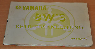 Ba Betriebsanleitung Bedienungsanleitung Yamaha Bw´s Stand 1991 Seien Sie In Geldangelegenheiten Schlau