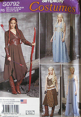 Simplicity Misses LOTR Elf Fantasy Medieval Costume Pattern 0792 1347 UC 14-22
