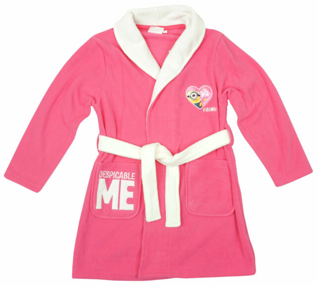 Dressing Gown Child Disney Minions Pink 6 Years | eBay