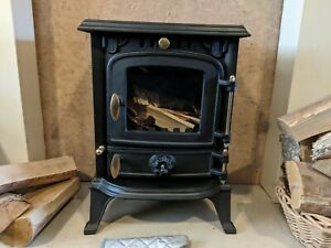 Lincsfire Harmston Stove 5.5KW Cast Iron Wood Log Burner MultiFuel WoodBurner