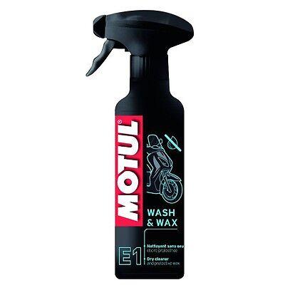 Collezione Qui Motul E1 Wash & Wax Detergente Sgrassatore Pulitore A Secco E Cera Per Bajaj