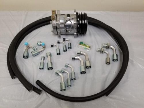 Compressor NO DRIER Universal 134a Air Conditioning Fittings /& AC Hose Kit