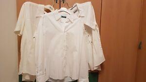 new arrival ae359 cf547 Dettagli su N° 3 camicie bianche: 2 a maniche corte NUOVE e 1 a maniche  lunghe USATA