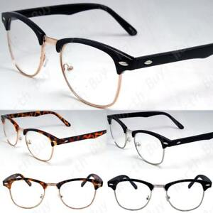 Lente Claro Gafas Hombres Mujeres Moda Cuadrado Marco Nerd Geek falso ojo Wear Negro