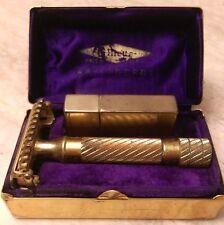 Vintage 1934 Era Gillette Aristocrat De Luxe Open Comb Safety Razor