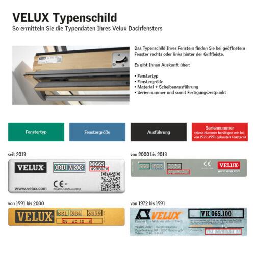 Velux VE VK VS Dachfensterrollo Verdunkelungsrollo Thermo f weiß
