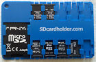 Micro SD Card Case, Holder, Organizer Blue - FREE SHIPPING