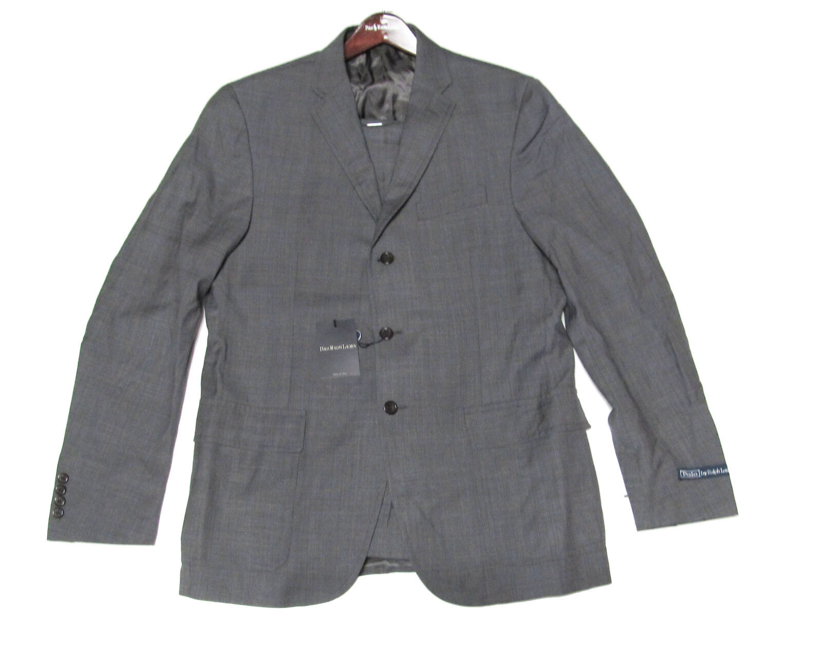 1,650 Polo Ralph Lauren  Herren  Grau Harvard Slim Custom Fit Wool Suit 42L