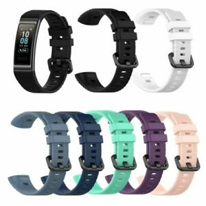 Silikon-Armband-Uhrenarmband-Sport-Strap-fuer-Huawei-Band-3-3-Pro-Watch-Ersatz