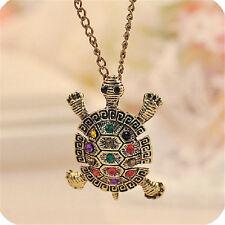 Fashion Woman's jewelry cute little turtle pendant necklace sweater chain Fz