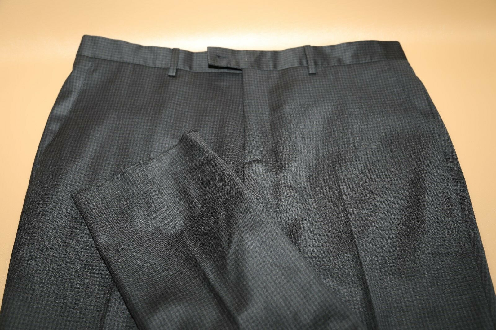 John Varvatos Collection  Wool Flat Front Trousers Size 36