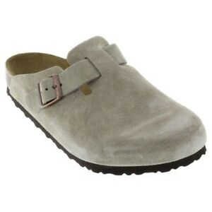 2e5fd5781cd4 Details about Birkenstock Boston Suede Men Clogs NEW Size US 6 7 8 9 10 11  12 13 14 17 N or M
