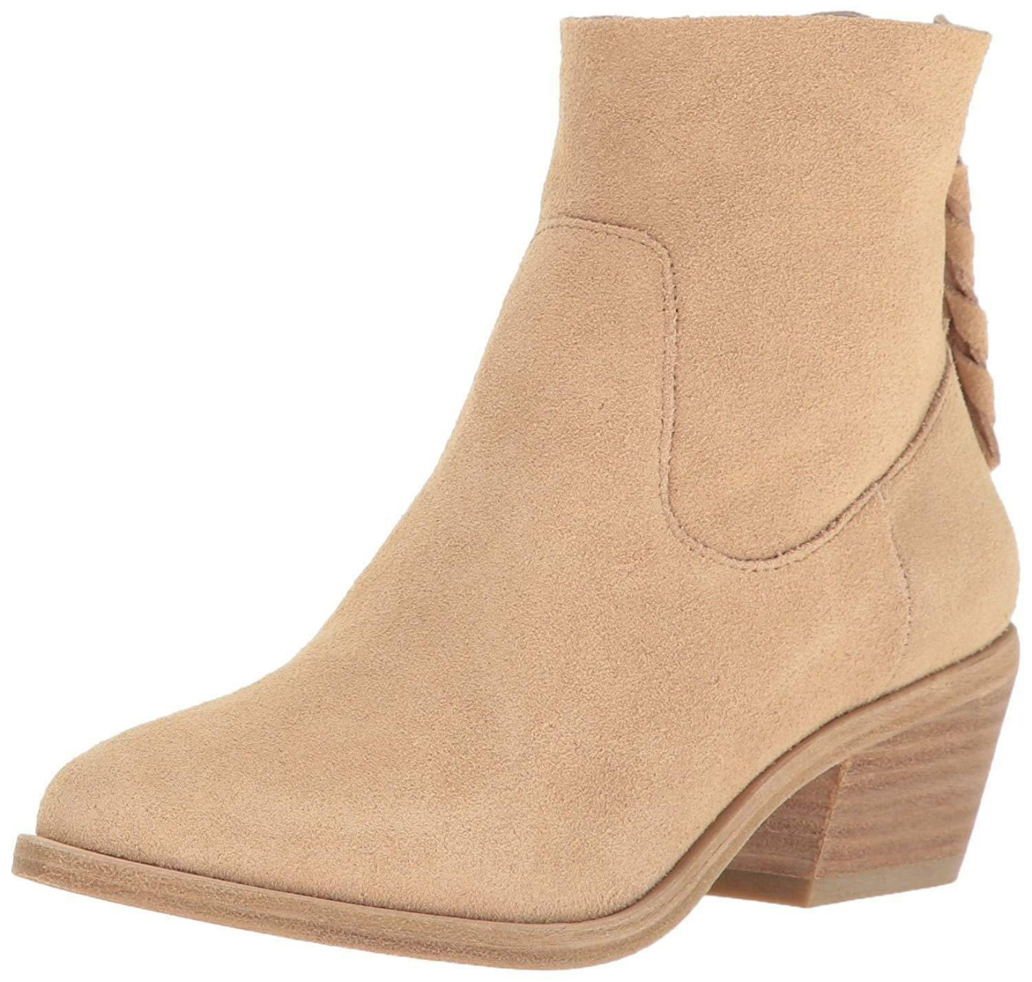 Joie Womens Adria Suede Ankle Booties Boots Powder 38.5