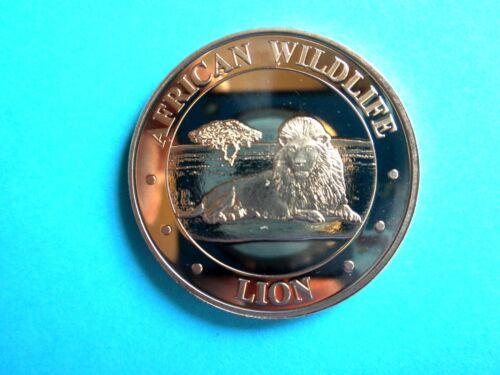 """/""""AFRICAN LION/""""  1 oz Copper Round"""