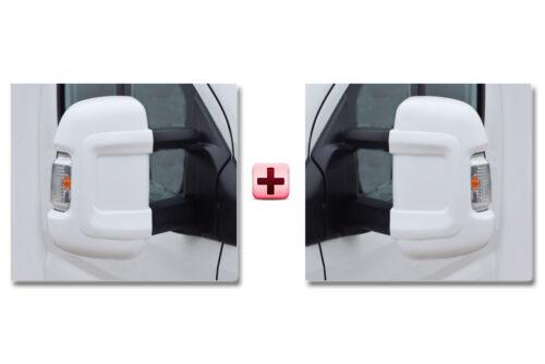Fiat Ducato porte miroir Boîtier Protecteur housses de protection blanc long paire 2006