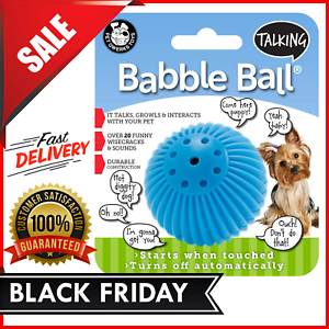 Pet-Qwerks-Talking-Electronic-Ball-Dog-Cat-Pet-Interactive-TouchToy-Funny-Sounds