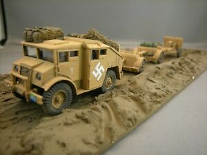 Plastic-Soldier-Company-25pdr-2-x-caissons-amp-CMP-tractor-in-German-Service-1-72