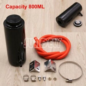 800ml-Black-Overflow-Catch-Tank-Radiator-Coolant-Expansion-Tank-Bottle-Header-AU