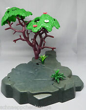 Playmobil (Klicky)  ** 1 Bodenplatte / Felsen mit Baum und Grünpflanzen