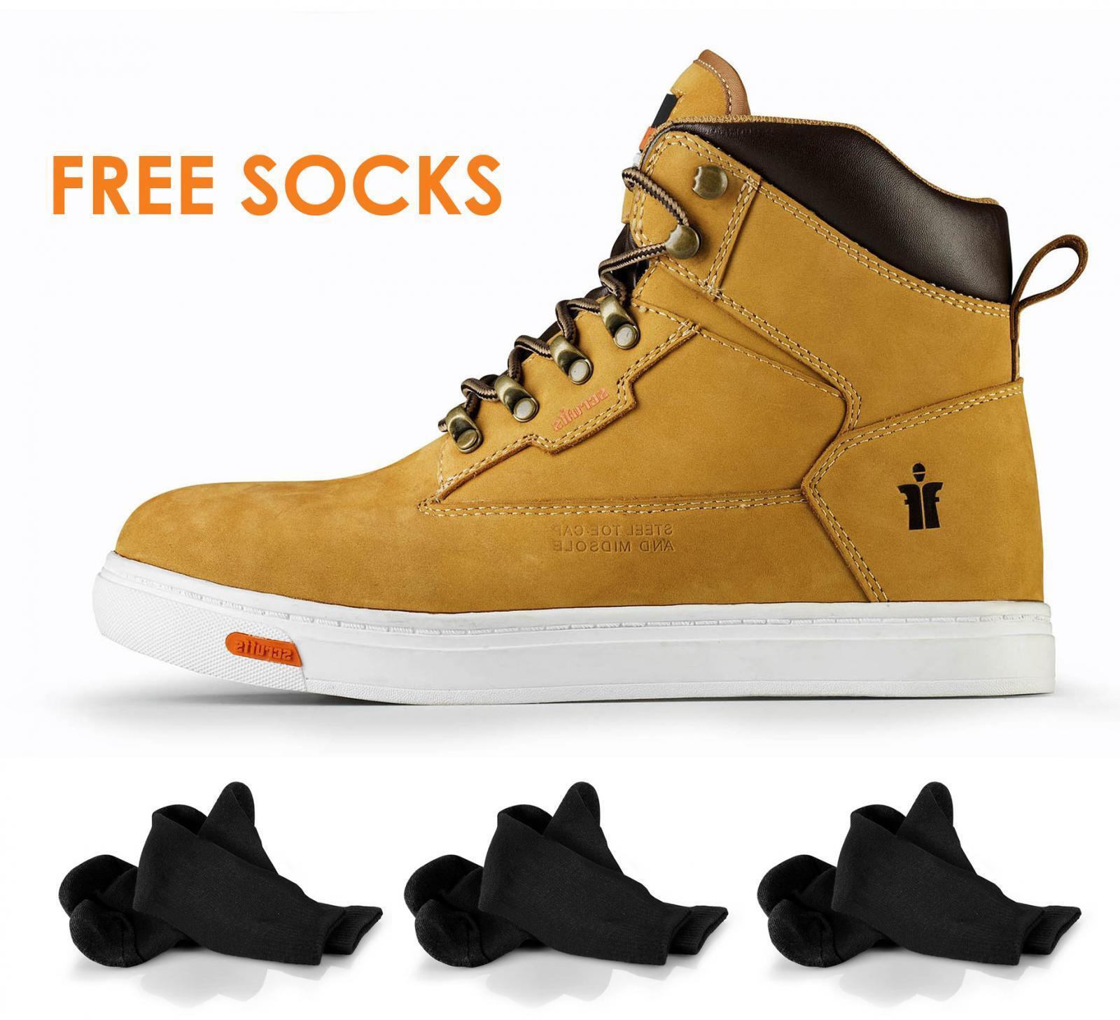 SCRUFFS TWISTER SPORT SAFETY WORK Stiefel SBP SRA HRO Rated STEEL TOE CAP + SOCKS